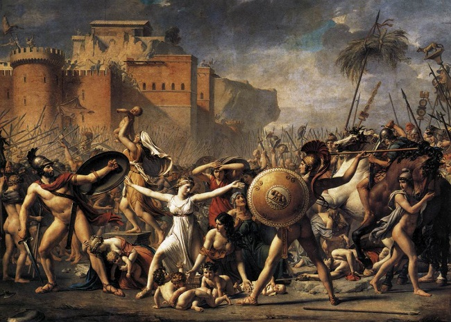 El Rapto de las Sabinas - Jacques-Louis David (1799)